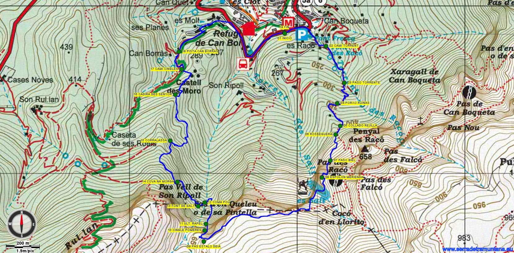 Mapa de la ruta realizada