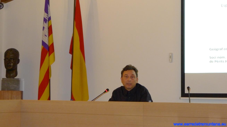 El geógrafo y perito judicial Xavier Campillo, en un momento de la presentación