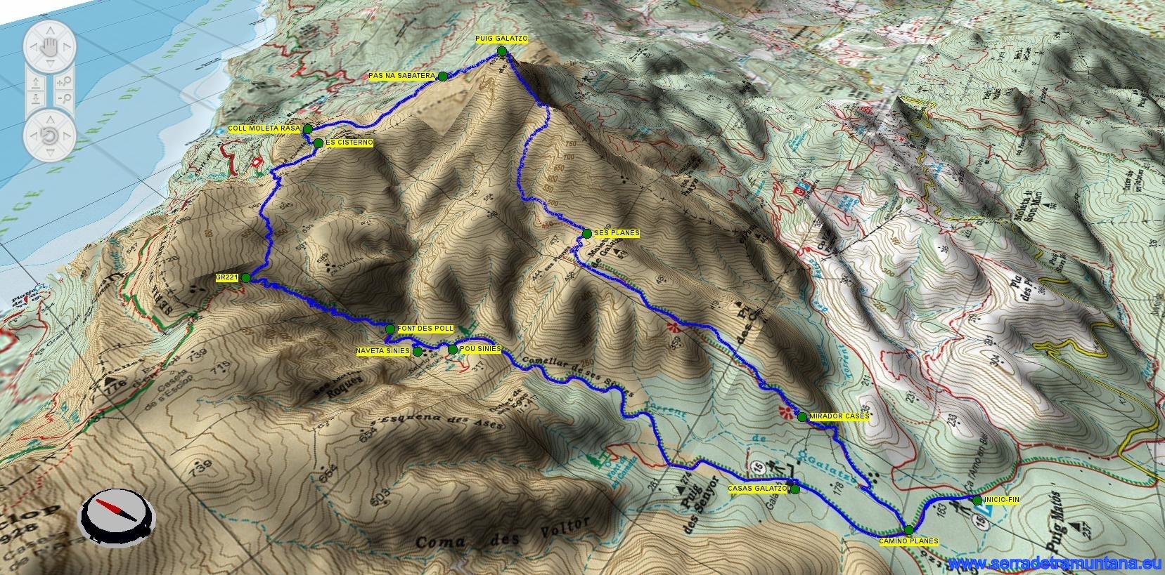 Mapa de la ruta en 3D