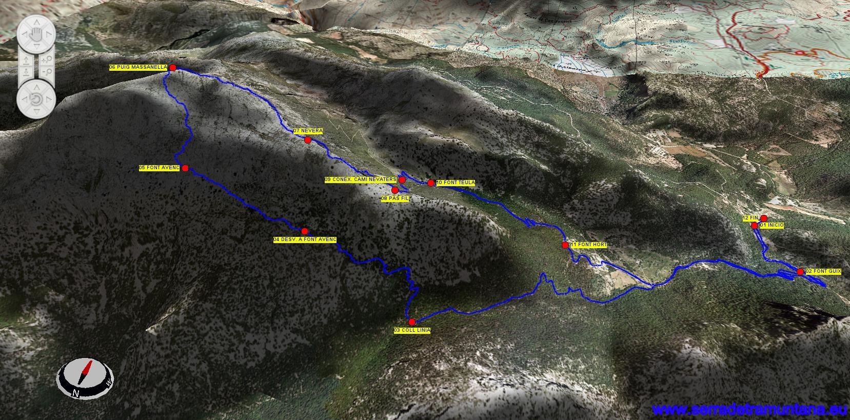 La ruta en 3D